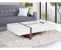 Table basse - table de salon - marron et blanc - Mirandela