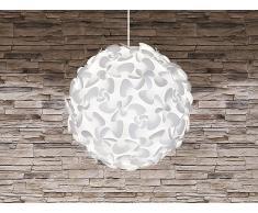 Lampe de plafond - suspension - plafonnier - luminaire blanc - Lora Maxi