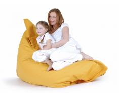 Pouf géant XXL - coussin de sol 140x180 cm - jaune