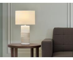 Lampe à poser - lampe de salon, de chevet, de bureau - crème - Navia