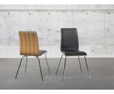 Chaise de salle à manger - siège design couleur bois - Harlem
