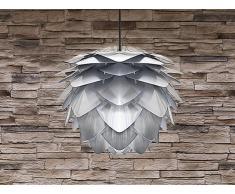 Lampe de plafond - suspension - plafonnier - luminaire argent - Silvia