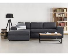 Canapé d'angle convertible avec rangements - canapé en tissu gris foncé - Kiruna