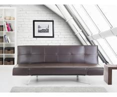Canapé convertible - canapé-lit en cuir brun - Bristol