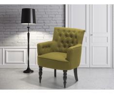 Fauteuil en tissu - fauteuil tapissé olive - Alesund