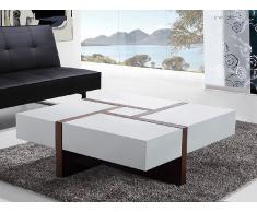 Table basse - table de salon - 100x100 cm - blanc - Evora