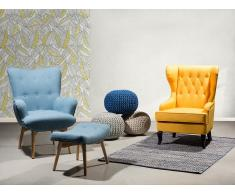 Fauteuil de salon - fauteuil en tissu jaune - Molde