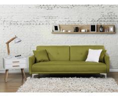 Canapé convertible - canapé en tissu vert - Lucan