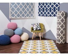 Tapis de salon bleu - 140x200 cm - Tapis coton laine - Zile