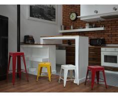 Chaise de bar - Bar - 46 cm - Jaune - Cabrillo