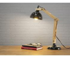 Lampe à poser - lampe de salon, de chevet, de bureau - noir - SALADO