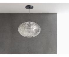 Lampe de plafond - suspension - plafonnier - luminaire nickel - Reine