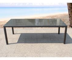 Table de jardin en rotin 160 cm - Italy