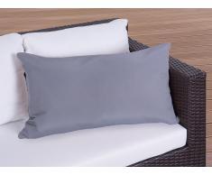 OCoussin de jardin - coussin rectangulaire gris - 40x70 cm