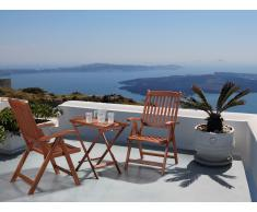 Table et 2 chaises de jardin en bois - Toscana