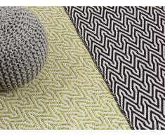 Tapis - Tapis rectangulaire - 160x230 cm - Noir et blanc - Manisa