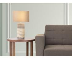 Lampe à poser - lampe de salon, de chevet, de bureau - marron - Navia