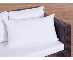Coussin de jardin - coussin rectangulaire beige - 40x70 cm
