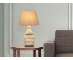 Lampe à poser - lampe de salon, de chevet, de bureau - marron - Tormes