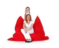 Pouf géant XXL - coussin de sol 140x180 cm - rouge
