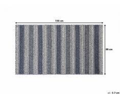 Tapis rectangulaire - beige et gris - 80x150 cm - Patnos