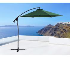 Parasol en métal - toile verte sans lambrequin - Asti II