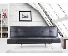 Canapé convertible - canapé-lit en cuir noir - Bristol