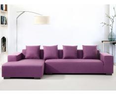 Canapé d'angle - canapé en tissu violet - Lungo (D)