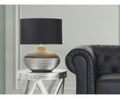 Lampe à poser - lampe de salon, de chevet, de bureau - gris - Lima