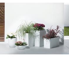 Cache-pot de fleurs - blanc - accessoire de jardin - 38x38x70 cm - Wener