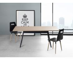 Table de salle à manger - table de cuisine - noir - 180 cm - Flow