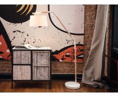 Lampadaire design - luminaire - lampe de salon - blanc - Nogat