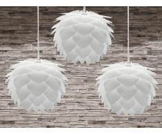 Lampe de plafond - Lot de 3 lampes suspendues - plafonnier - luminaire blanc - Silvia Mini