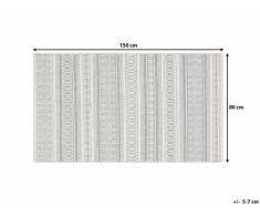 Tapis - gris - 80x150 cm - rectangulaire - Payas