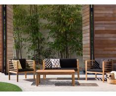 Ensemble de jardin - Table chaises et banc- Acacia - Marron - Pacific