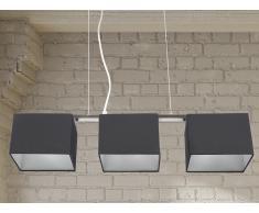 Lampe de plafond - suspension - plafonnier - luminaire noir - Garonne
