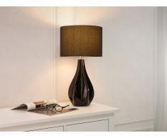 Lampe à poser - Lampe de salon, de chevet, de burreau - noir - Santee
