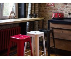 Tabouret de bar - Chaise de bar design - 60 cm - rouge - Cabrillo