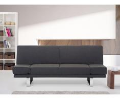 Canapé convertible - canapé-lit en tissu gris foncé - York