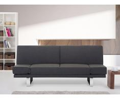 Canapé convertible - canapé-lit en tissu gris-bleu - York
