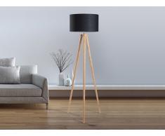 Lampadaire design - luminaire - lampe de salon - noir - Nitra