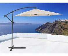 Parasol en métal - toile beige sans lambrequin - Metall
