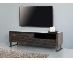 Meuble TV - meuble de rangement - couleur ébène - Elvas