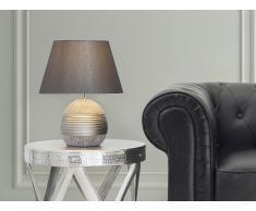 Lampe à poser - lampe de salon, de chevet, de bureau - argent - Sado