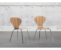 Chaise de salle à manger - siège design couleur bois clair - Queens