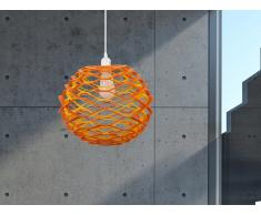 Lampe de plafond - suspension - plafonnier - luminaire orange et jaune - Cinca