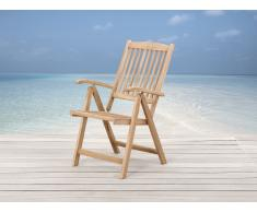 Chaise de jardin inclinable en bois - Riviera