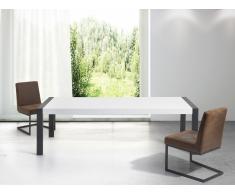 Table de salle à manger - table blanche - pieds noirs - 220 cm - Arctic I