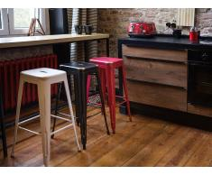Tabouret de bar - Chaise de bar design - 76 cm - blanc doré - Cabrillo