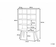 Commode - étagère - meuble de rangement - blanc - Wrangell